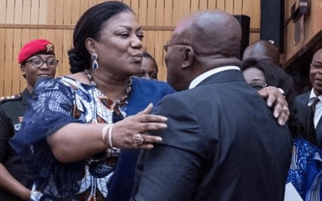 SoNA2019: Akufo-Addo kisses 'beautiful' Rebecca