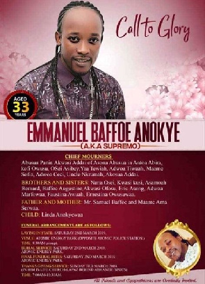 Funeral Poster Of The Late Anokye Supremo Goes Viral On Social Media
