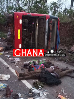 Black Friday:More than 60 feared dead and 40 others severely injured in a fatal accident at Kintampo – Techiman highway.