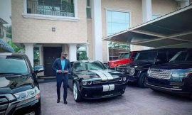 Peter Okoye shows off his fleet of cars