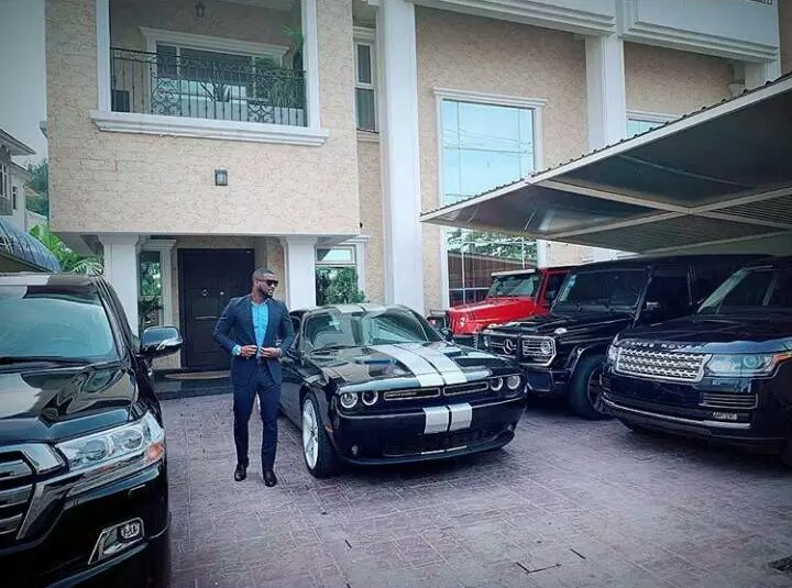 Peter Okoye shows off his fleet of cars