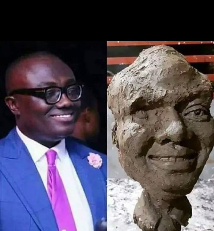 Bola Ray Scary Sculpture Pops Up On Social Media And He Has Finally Reacts to [Photos]
