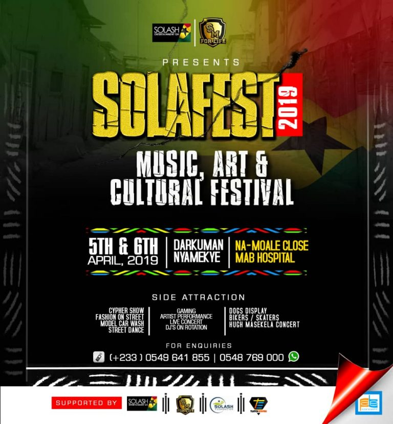 Shatta Wale, Lilwin and Other To Rock Stage At SOLAFEST Music, Art & Cultural Festival