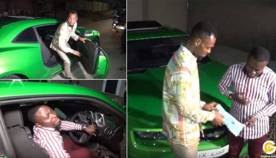 Rev. Obofour Buys Brand New Camaro Car Worth 3.2 Billion To Bro. Sammy As Free Gift