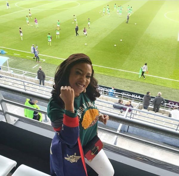 Tonto Dikeh, others join Super Falcons in France