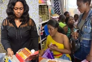Ghanaian ladies flooded Mama Gee Shop for 'husband snatching' charms
