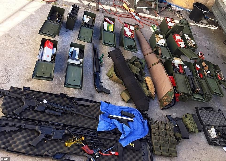California Hotel Cook Plots Mass Shooting In Hotel, Arrested With Heavy Weapons.
