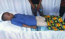 """Video: Uncontrollable tears flood eyes as schoolboy in viral """"Omo Ada""""video is laid to rest"""