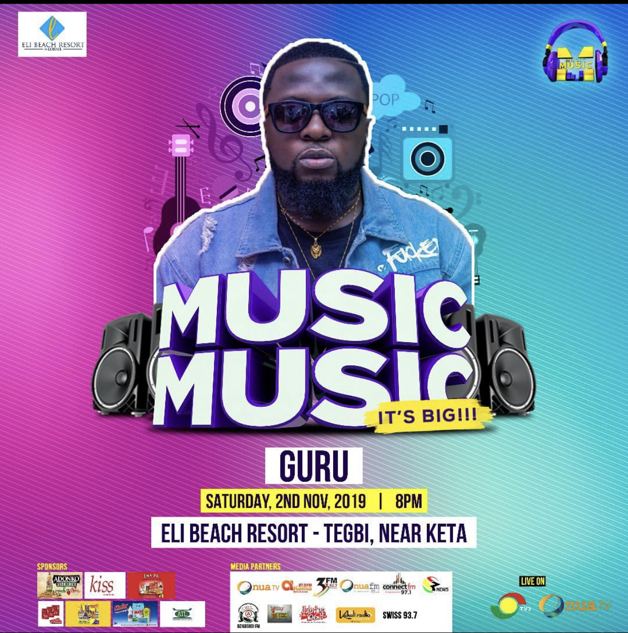 MUSIC MUSIC Blazing this weekend at Eli Beach Resort