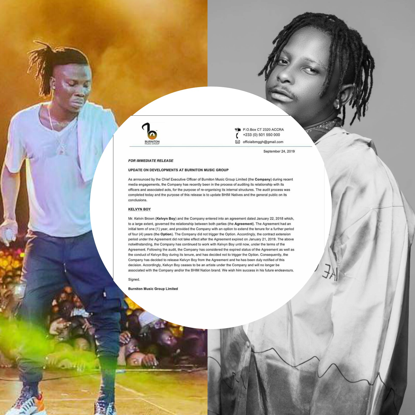 Burniton Music Group ceases to work with Kelvyn Bwoy
