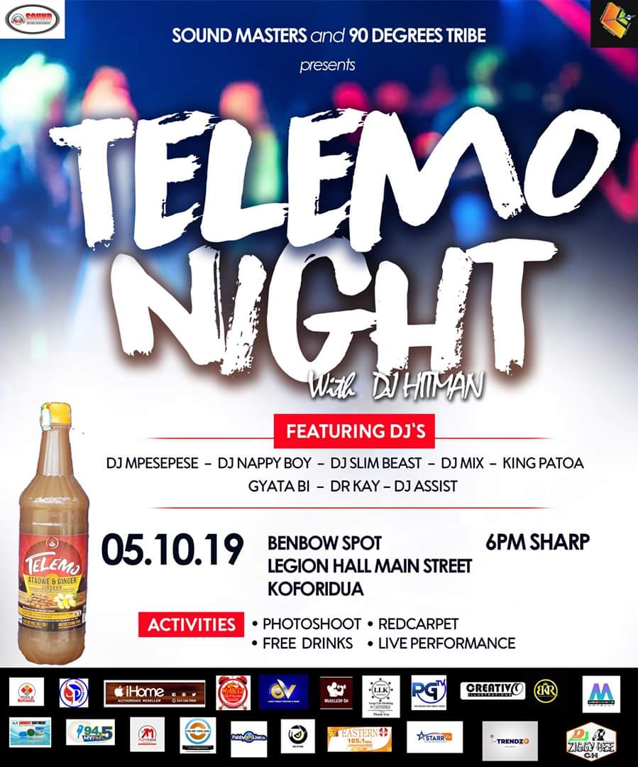 "New musical event hits Eastern Region, ""Telemo Night with Dj Hitman"""