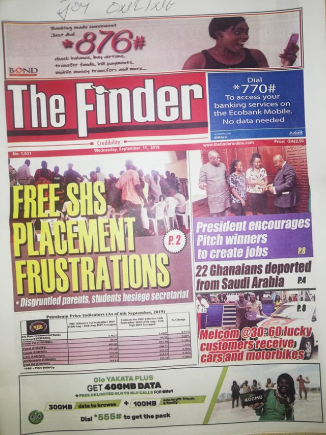 Newspaper Headlines,Wednesday, 11th September