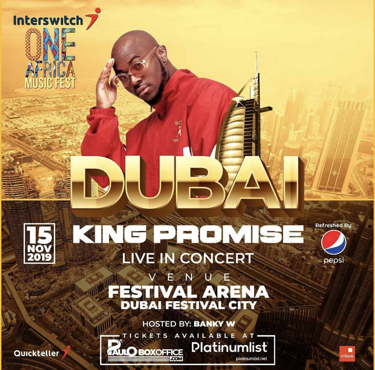 KING PROMISE TO ROCK DUBAI