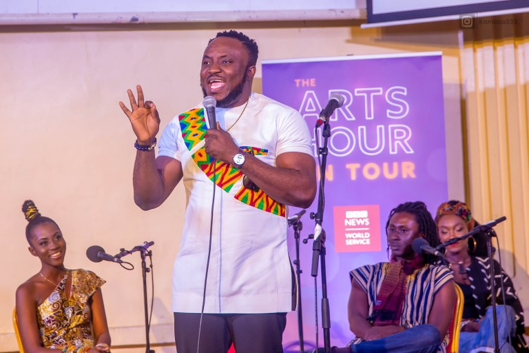 Congrats :Comedian DKB Represents Ghana Comedy on BBC Arts Hour on Tour.