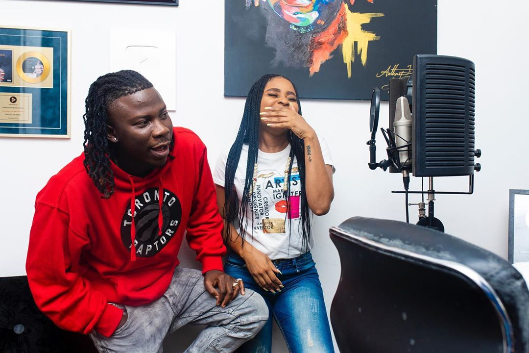 Highly anticipated collaboration, Adina hits the studios with Stonebwoy