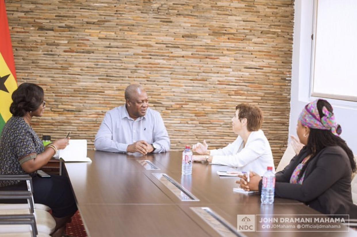 Head of the European Union Delegation to Ghana, Diana Acconcia meets Ex-prez Mahama