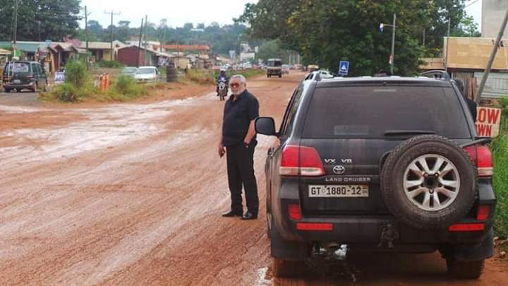Jerry John Rawlings shocked over poor road networks in Ho…