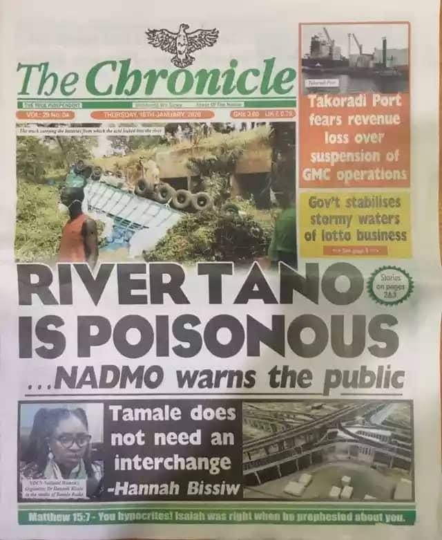 Newspaper Headlines, Friday, 17th January, 2020