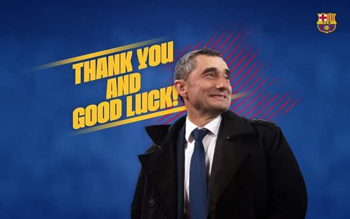 Barcelona show coach Ernesto Valverde the exit…