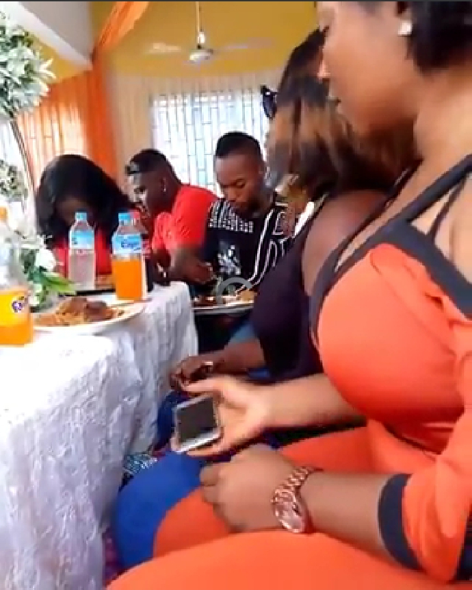 Shameless Slay Queens Caught On Camera Stealing Meats At A Party.