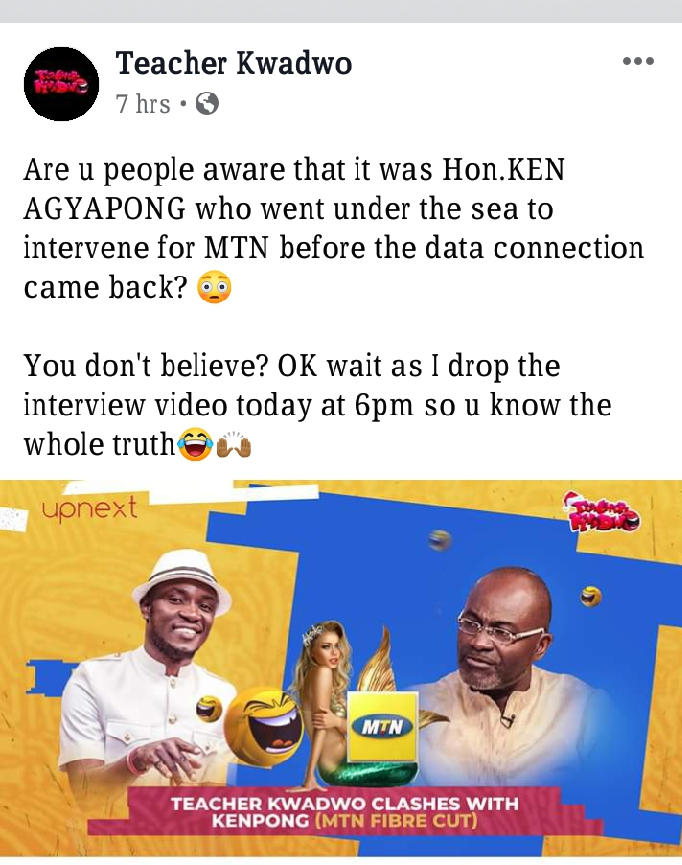 "Teacher Kwadwo Trolls Hon. Ken Agyapong for his ""know all"" claim…"