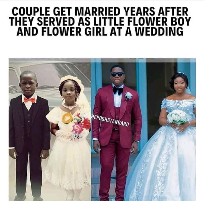Beautiful: Flower boy and girl married.