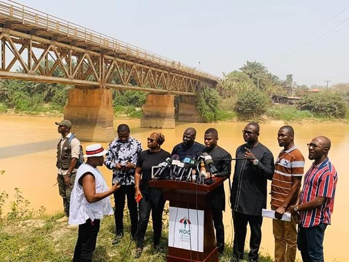 (Photos):NDC holds press conference on galamsey at Twifo Praso